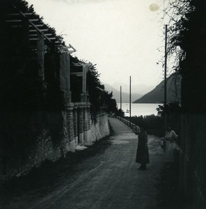 Switzerland Lake Lugano Castagnola Pergola Old Possemiers Stereoview Photo 1900
