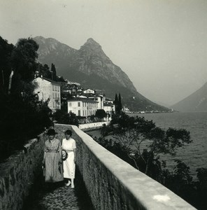 Italy Lake Lugano Oria Villa Marchese Brusati Possemiers Stereoview Photo 1900
