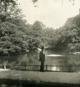 Allemagne Berlin Tiergarten Ile Rousseau-Insel Ancienne Photo Stereo NPG 1900