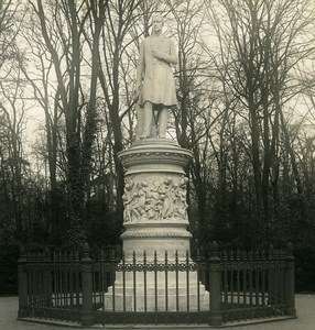 Allemagne Berlin Tiergarten Monument Friedrich Wilhelm III Ancienne Photo Stereo NPG 1900