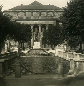 France Alsace Strasbourg Fontaine Reinhard Ancienne Photo Stereo NPG 1900