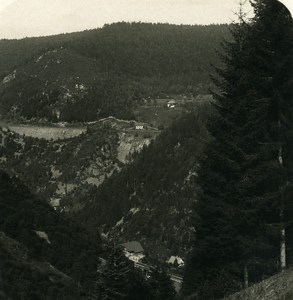 Allemagne Foret Noire Triberg Panorama Ancienne Photo Stereo NPG 1900