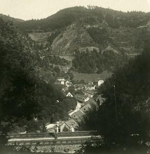 Allemagne Foret Noire Triberg Chemin de Fer Ancienne Photo Stereo NPG 1900
