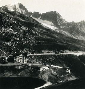Switzerland Alps Furkas road Galenstock Old Stereoview photo Wehrli 1900