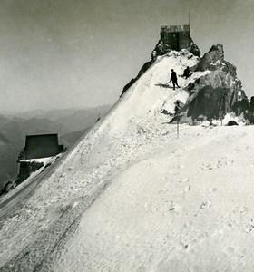 France Alps Mont Blanc Vallot Observatory Refuge Stereoview photo Wehrli 1900