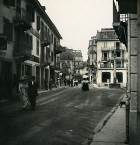 France Alpes Chamonix grand rue Ancienne Photo Stereo NPG 1900