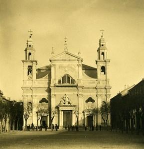 Italie Pietra Ligure l'église Chiesa Ancienne Photo Stereo NPG 1900