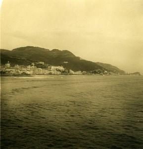 Italie Finalmarina panorama Ancienne Photo Stereo NPG 1900