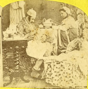 Ireland? The Pleasures of Matrimony Scene de Genre Stereoview Photo 1860