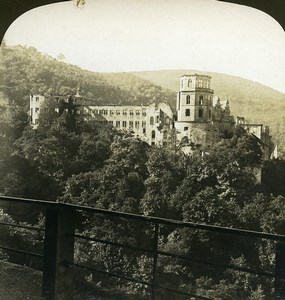 Germany Heidelberg Castle Old White Stereoview Photo 1900