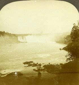 Canada Niagara Falls Old Milford Wright Excelsior Stereoview Photo 1900