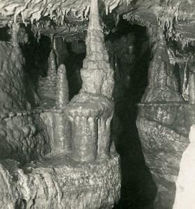 Germany Bavaria Streitberg Binghöhle Bing Cave Old NPG Stereoview Photo 1906 #3