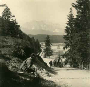Germany Bavarian Alps Fischbachalm Old NPG Stereoview Photo 1906