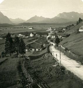 Germany Bavarian Alps Wallgau Isar Thal Old NPG Stereoview Photo 1906