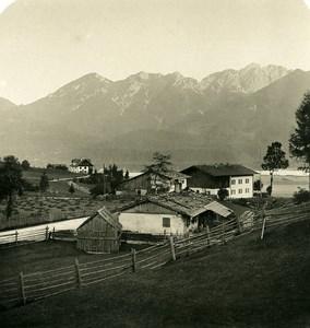 Germany Bavarian Alps Wallgau Karwendel Old NPG Stereoview Photo 1906