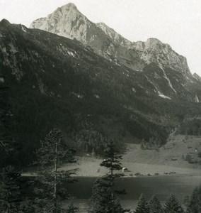 Germany Bavarian Alps Ferchensee Mittenwald Old NPG Stereoview Photo 1906