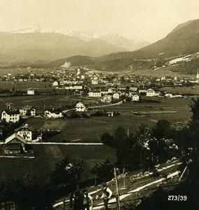 Germany Bavarian Alps Garmisch Old NPG Stereoview Photo 1906