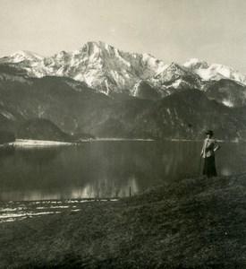 Germany Bavarian Alps Kochel Lake Herzogstand Old NPG Stereoview Photo 1906