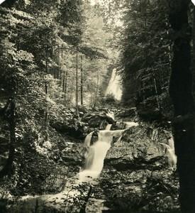 Germany Bavarian Alps Kesselbachfall Old NPG Stereoview Photo 1906