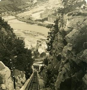 Italy Tyrol Bozen Bolzano Funicular Railway Old NPG Stereo Photo 1906