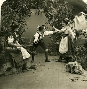 Austria Tyrol Traditional Dance Old NPG Stereo Photo 1906