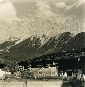 Autriche Tyrol Ehrwald Schneefernerkopf Ancienne Photo Stereo NPG 1906