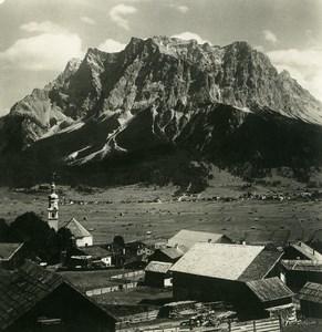 Autriche Tyrol Lermoos Zugspitze Schneefernerkopf Ancienne Photo Stereo NPG 1906