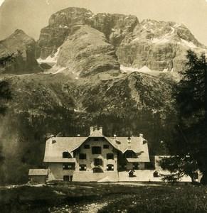 Italie Südtirol Dolomites Tyrol Durrenstein Hohe Gaisl Ancienne Photo Stereo NPG 1906