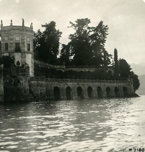 Italie Lac Majeur Pallanza Isola Bella Lago Maggiore Ancienne Photo Stereo 1906