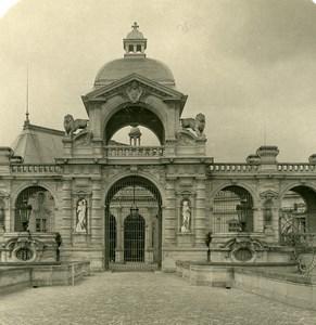 France Chateau de Chantilly Entrée Ancienne Photo Stereo NPG 1900