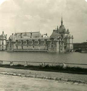 France Chateau de Chantilly vue generale Ancienne Photo Stereo NPG 1900