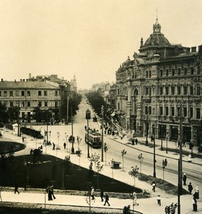 Russia Ukraine Odessa Cathedral Square Tramway Old NPG Stereo Photo 1900
