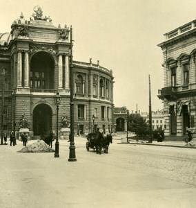 Russia Ukraine Odessa Theater Old NPG Stereo Photo 1900