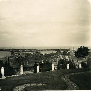 Russie Ukraine Odessa Jardin Municipal et Port Ancienne Photo Stereo NPG 1900