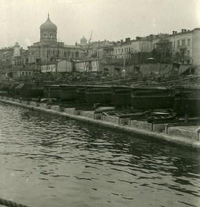 Russia Crimea Sebastopol Torpedo boats Old NPG Stereo Photo 1900