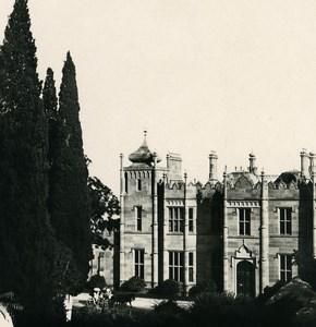 Russia Crimea Alupka Vorontsov Palace Facade Old NPG Stereo Photo 1900