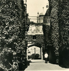 Russia Crimea Alupka Vorontsov Palace Garden Old NPG Stereo Photo 1900