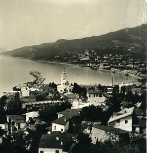 Russia Crimea Yalta Jalta panorama Old NPG Stereo Photo 1900