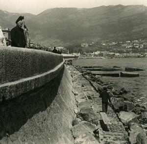 Russia Crimea Yalta Jalta Dike Mole Old NPG Stereo Photo 1900