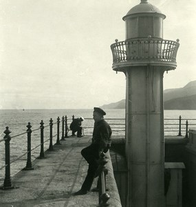 Russie Crimée Yalta Jalta le Phare Ancienne Photo Stereo NPG 1900