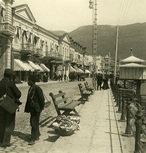 Russia Crimea Yalta Jalta Boulevard Old NPG Stereo Photo 1900