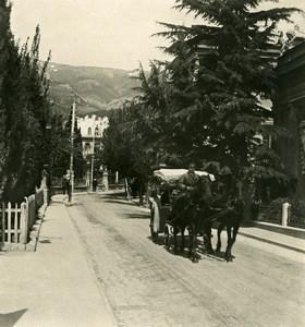 Russia Crimea Yalta Jalta Catherine Street Old NPG Stereo Photo 1900