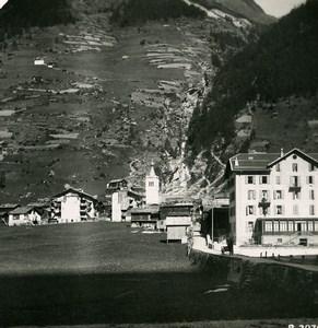 Suisse Vallee de la Viege Täsch Ancienne Photo Stereo 1900