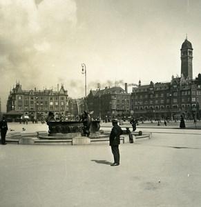 Danemark Copenhague Raadhuspladsen Hôtel-de-Ville Ancienne Photo Stereo NPG 1900