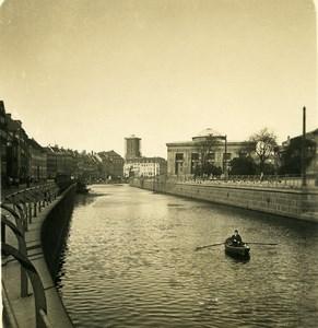Denmark Copenhagen Thorvaldsens Museum Canal Old NPG Stereo Photo 1900