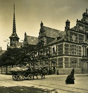 Denmark Copenhagen Borsen Old Stock Exchange NPG Stereo Photo 1900