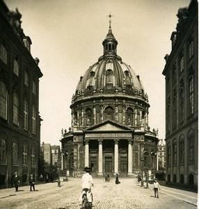 Denmark Copenhagen Frederik's Church Old NPG Stereo Photo 1900