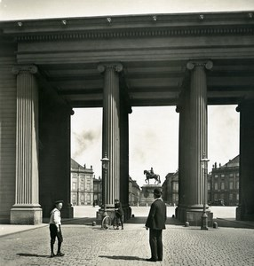 Denmark Copenhagen Amalienborg Colonnade Old NPG Stereo Photo 1900