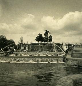 Denmark Copenhagen Gefion Fountain Old NPG Stereo Photo 1900