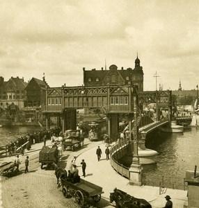 Denmark Copenhagen Knippelsbro Bascule Bridge Old NPG Stereo Photo 1900
